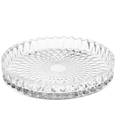 Dekoratīvs šķīvis 4living stikla Ø16cm, balts