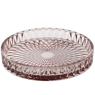 Dekoratīvs šķīvis 4living stikla Ø16cm, brūns