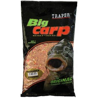 Papildbarība zivīm Big Carp Traper, zemeņu, 1 kg