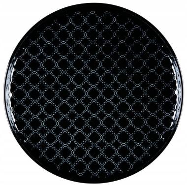 Šķīvis Marrakesz melns, Lubiana, 20 cm
