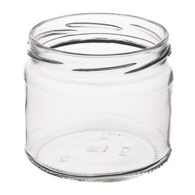 Stikla burka skrūvējama, 0,33 L
