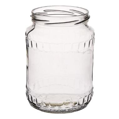 Stikla burka skrūvējama, 0,72 L