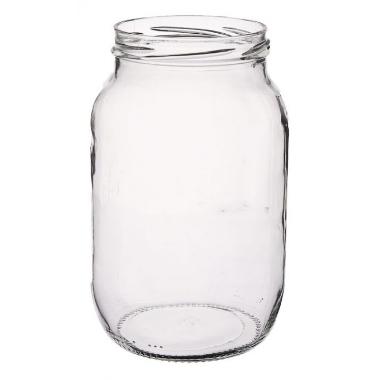 Stikla burka skrūvējama, 1 L
