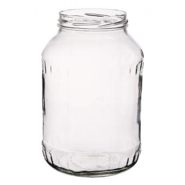 Stikla burka skrūvējama, 1,5 L