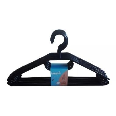 Drēbju pakaramie melni, Keeeper, 10 gab.