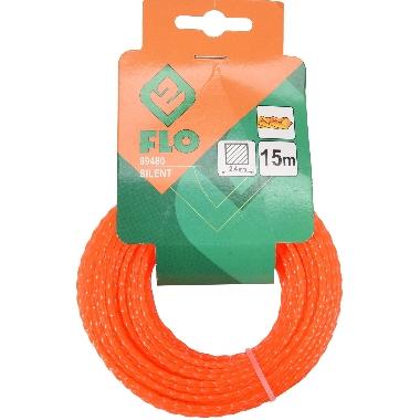 Trimmera aukla oranža 2,4mmx15m, Flo