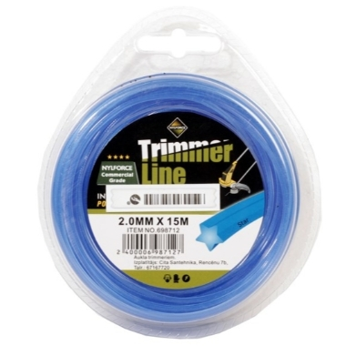 Trimmera aukla Trimmer Line zila, 2mm x 15m