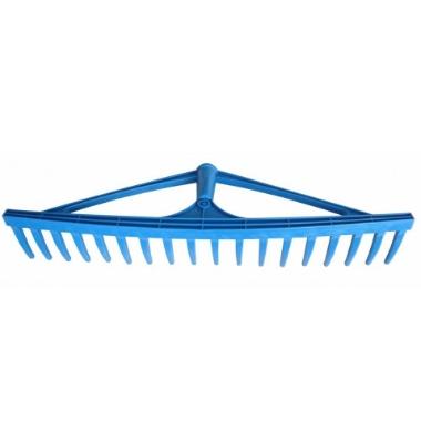 Grābeklis plastmasas zils bez kāta, 18 zari, 60 cm