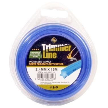 Trimmera aukla Trimmer Line zila, 2,4mm x 15m