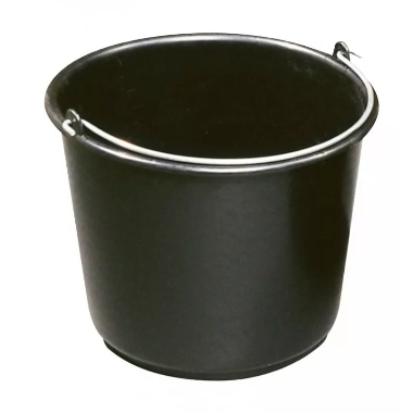 Plastmasas spainis, melns, 16 L