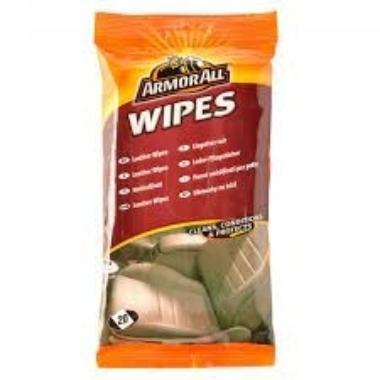 Mitrās salvetes ādas virsmu tīrīšanai, ArmorAll, 20 gab.
