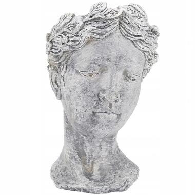Puķu pods Kobieta, antīka sievietes galva, 21x13cm