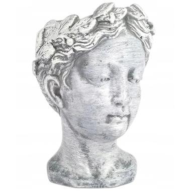 Puķu pods Kobieta, antīka sievietes galva, 17x11cm