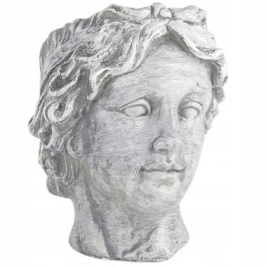 Puķu pods David, antīka sievietes galva, 24x22cm