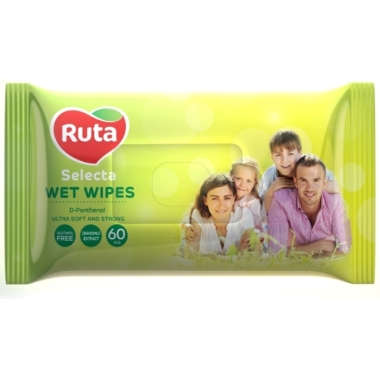 Mitrās salvetes Ruta Family ar kumelīšu ekstraktu, 60 gab.