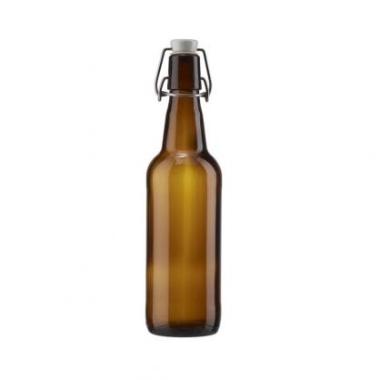 Stikla pudele ar aiztaisāmu korķi, 0,33 L