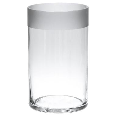 Stikla vāze cilindrs 4living, 12x20 cm
