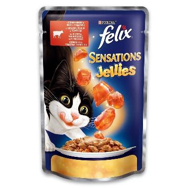 Kaķu barība ar liellopu un tomātiem Felix, 100 g
