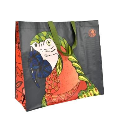Iepirkumu maisiņš ar papagaili