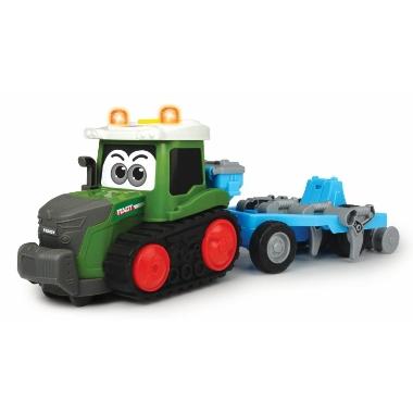 Rotaļu traktors Happy Fendt ar arklu, Dickie Toys