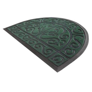 Durvju paklājs Floral zaļš, York