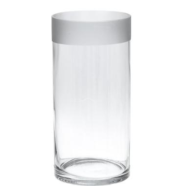 Stikla vāze cilindrs 4living, 12x25 cm